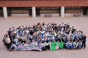 台湾高校生と本校英語科生徒が交流