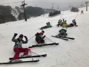スキー実習1日目