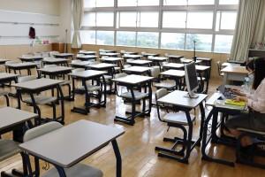 授業中なのに誰もいない教室