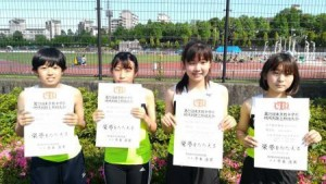 中学陸上部 女子共通リレー&女子走り幅跳び 都大会出場決定!