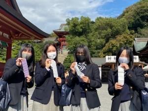 【中2】鎌倉校外学習を行いました。(ドイツからの留学生も参加)