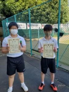 中学男子ソフトソフトテニス部:私学新人選手権
