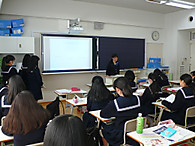 《中学3年》国際「About Japan」クラス内発表会