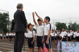 【中学校】体育祭 紫組(特進クラス)優勝