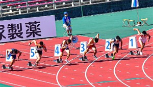 高校陸上部 塚口哲平 男子100m 10秒43で全国第4位!