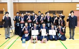 高校第7支部剣道大会 男子団体戦 優勝!男子個人戦 2・3段の部優勝!