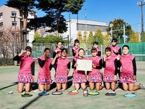中学女子テニス 関東大会ベスト4 全国選抜大会出場決定!