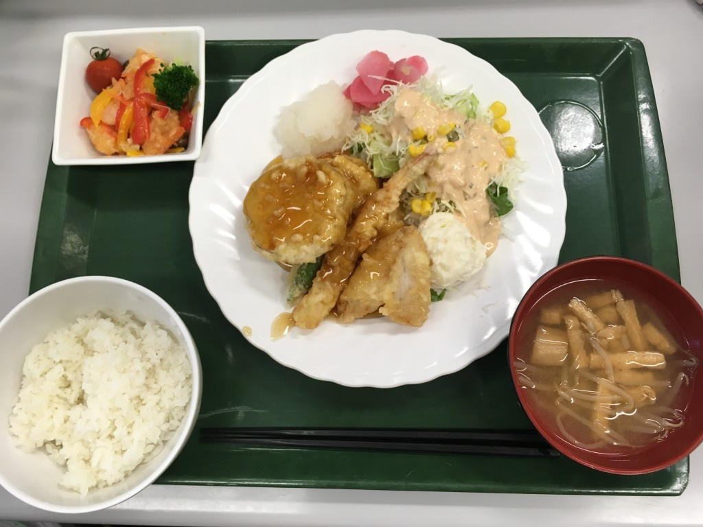 日替定食(魚) てんぷら定食