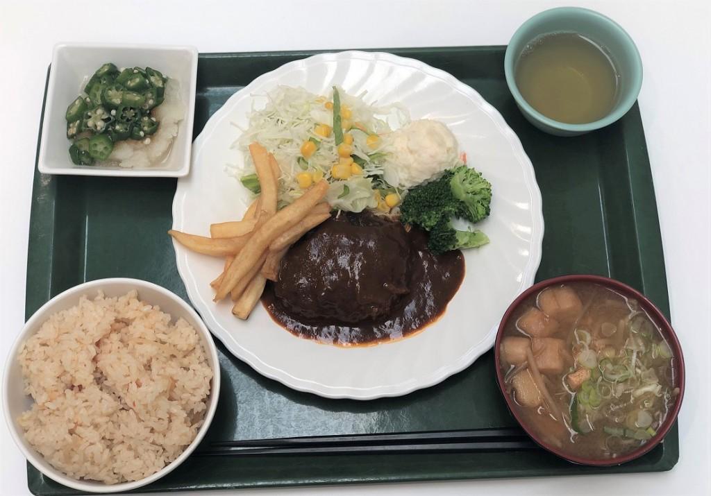 日替定食(肉)煮込みハンバーグ定食