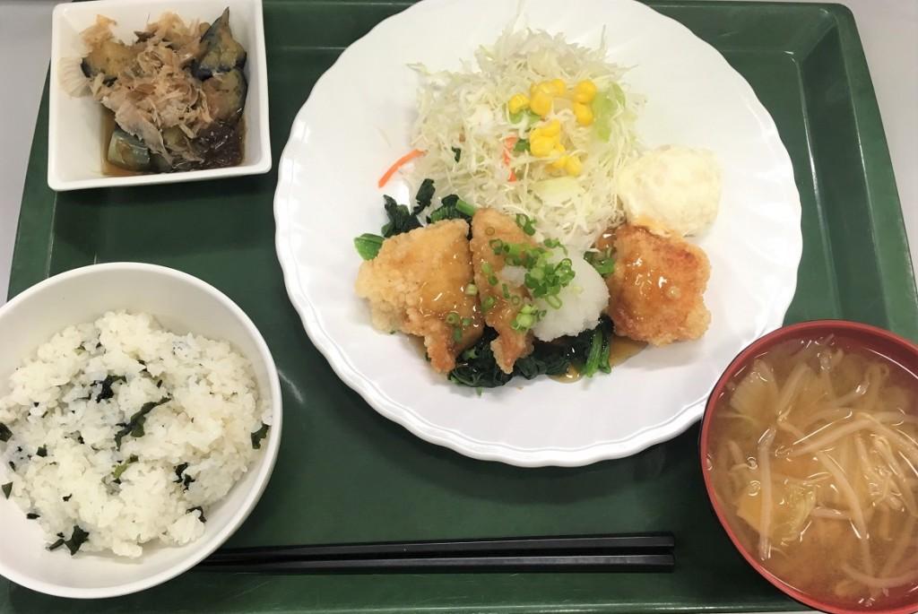 日替定食(魚)白身魚おろしソース定食