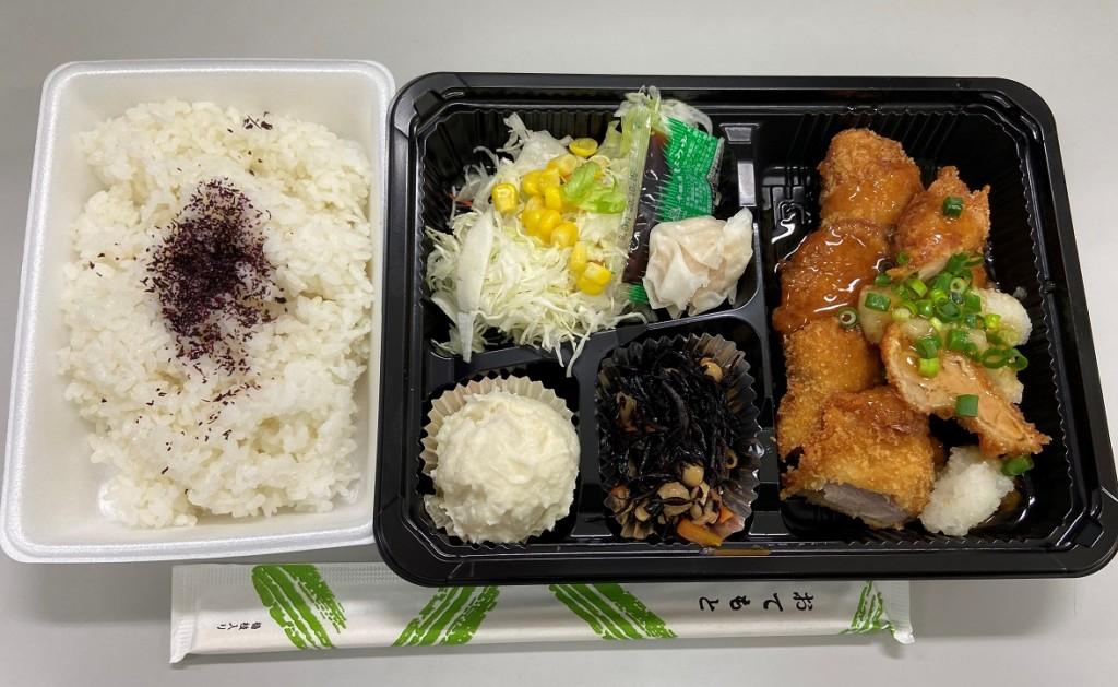日替わり定食 ヒレカツおろしソース(弁当バージョン)
