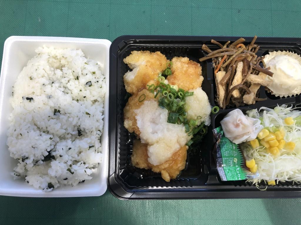 白身魚おろしソース定食
