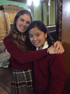 イギリスの提携校に留学した生徒