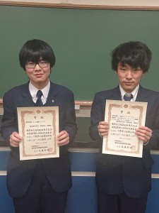 物理部 鈴木君(右)と岡部君