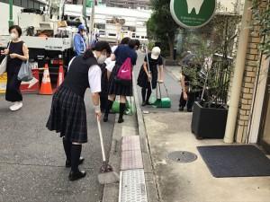【部活動】通学路清掃活動【合唱部】