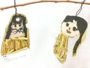 1年生 図工 『へんしん!じぶんミノムシ』 〜藁を使って作る〜