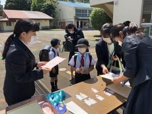 東星学園 校長 大矢正則 カトリック ミッション 男女 東星学園小学校入学式(3)