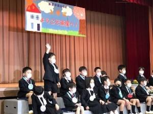 東星学園 大矢正則校長 カトリック ミッション 男女 東星学園小学校入学式(5)