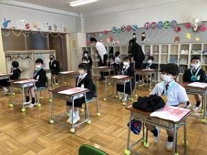 東星学園 校長・大矢正則 清瀬 私立 小学校 東星学園小学校入学式(4)