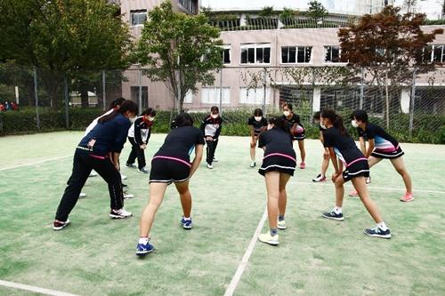 テニス部ラケット講習